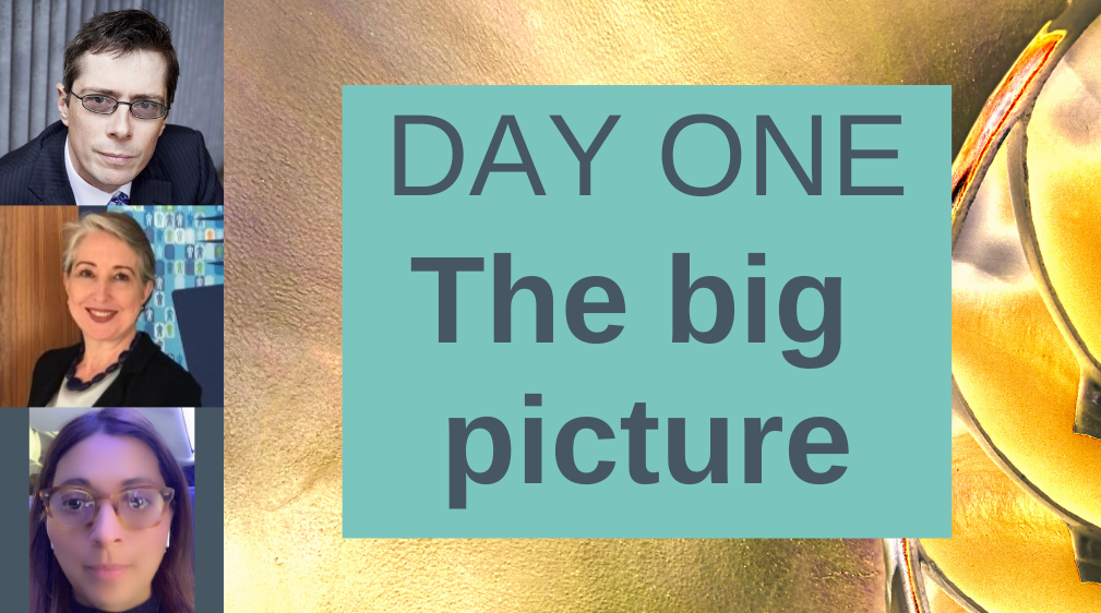 Day one The big picture